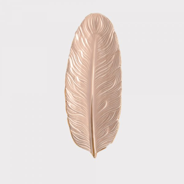 Small Pink Feather Tray