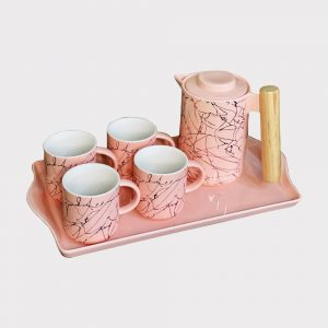 Pink Ceramic Tea Set