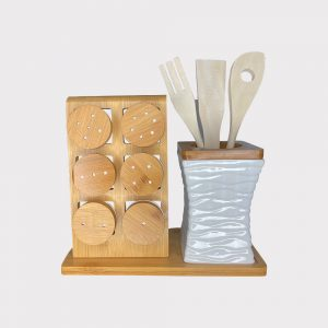 Wooden Condiment Set