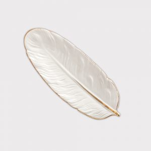 Small White Feather Tray