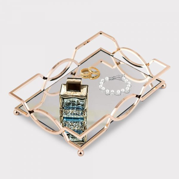 home accessories Mirrored Gold Tray