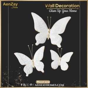 White Butterfly Wall Decoration