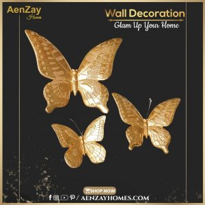 Gold Butterfly Wall Decoration