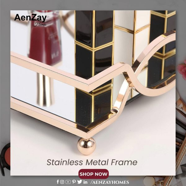 Mirrored Gold Tray